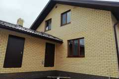 деревянные окна в коттедже